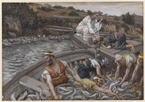 The Miraculous Draught of Fishes ~ James Tissot (1894) public domain